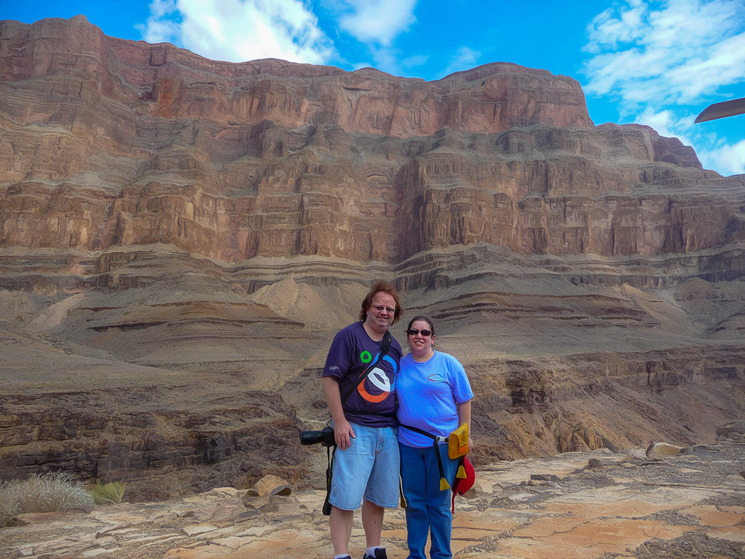 Shannon and Sheree at the Grand Canyon
